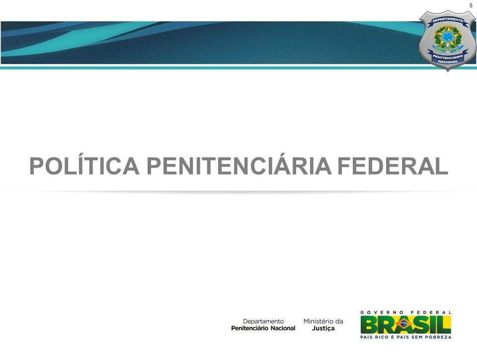6 CENÁRIO ATUAL POLÍTICA PENITENCIÁRIA FEDERAL