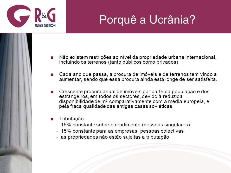 Porquê a Ucrânia? Não existem restrições ao nível da propriedade urbana internacional, incluindo os terrenos (tanto públicos como privados) Cada ano q