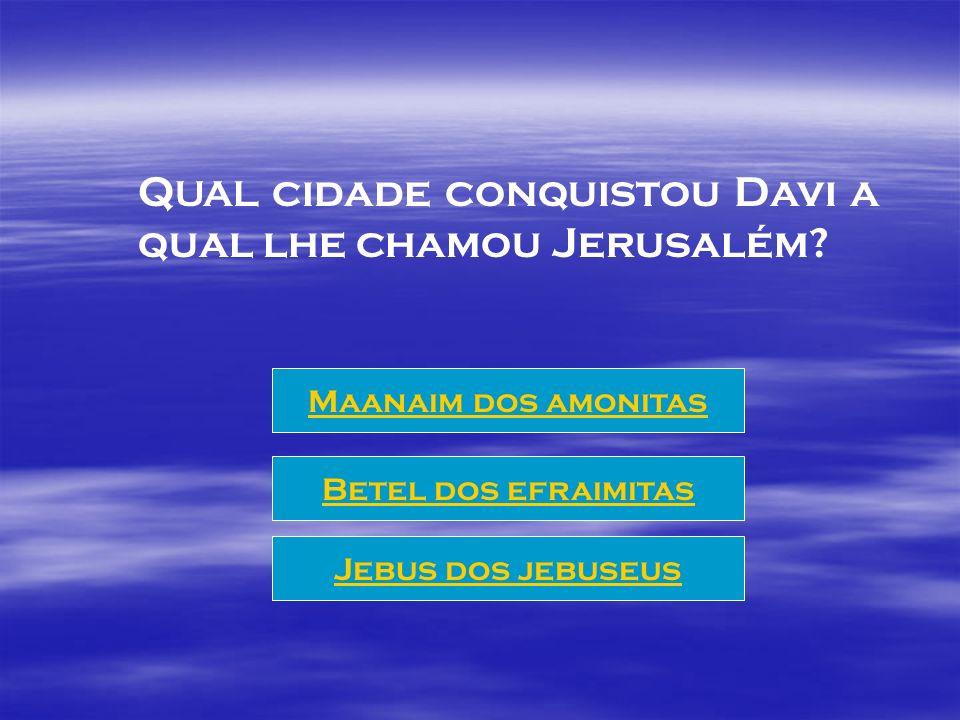 Com que idade começou Davi a reinar sobre Israel? 30 anos 20 anos 40 anos