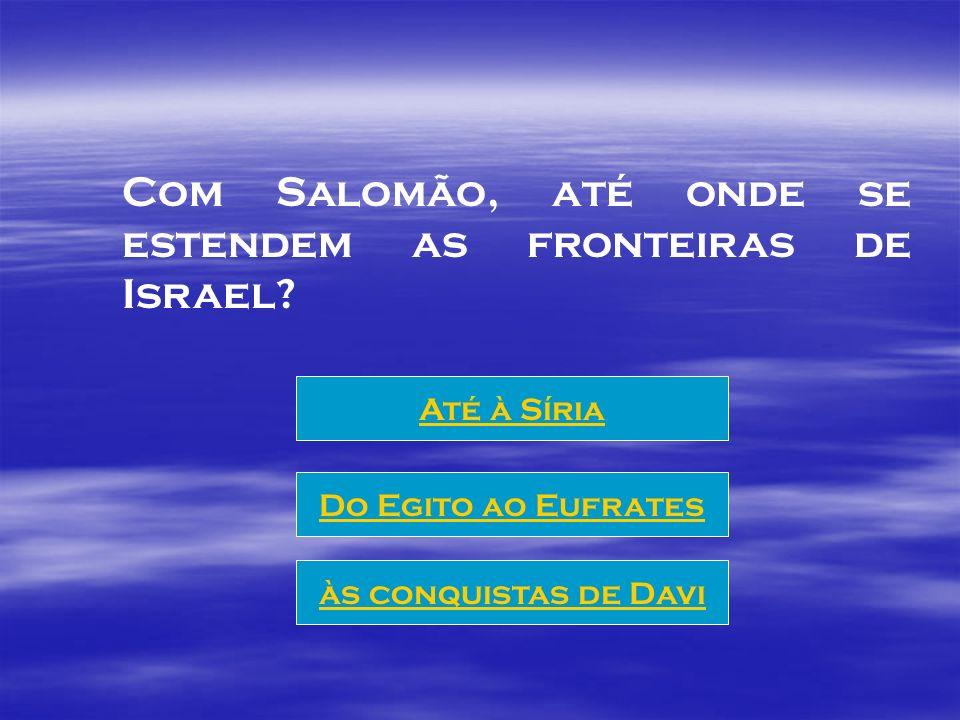 A grande obra de Salomão foi a construção do TEMPLO.
