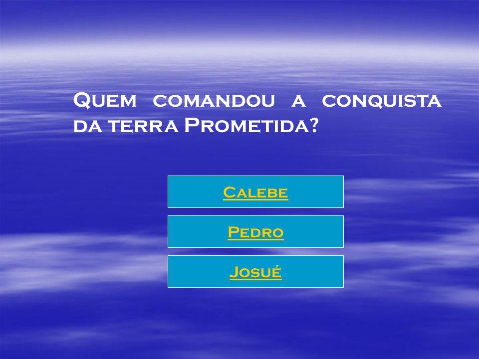 Quem comandou a conquista da terra Prometida? Calebe Pedro Josué