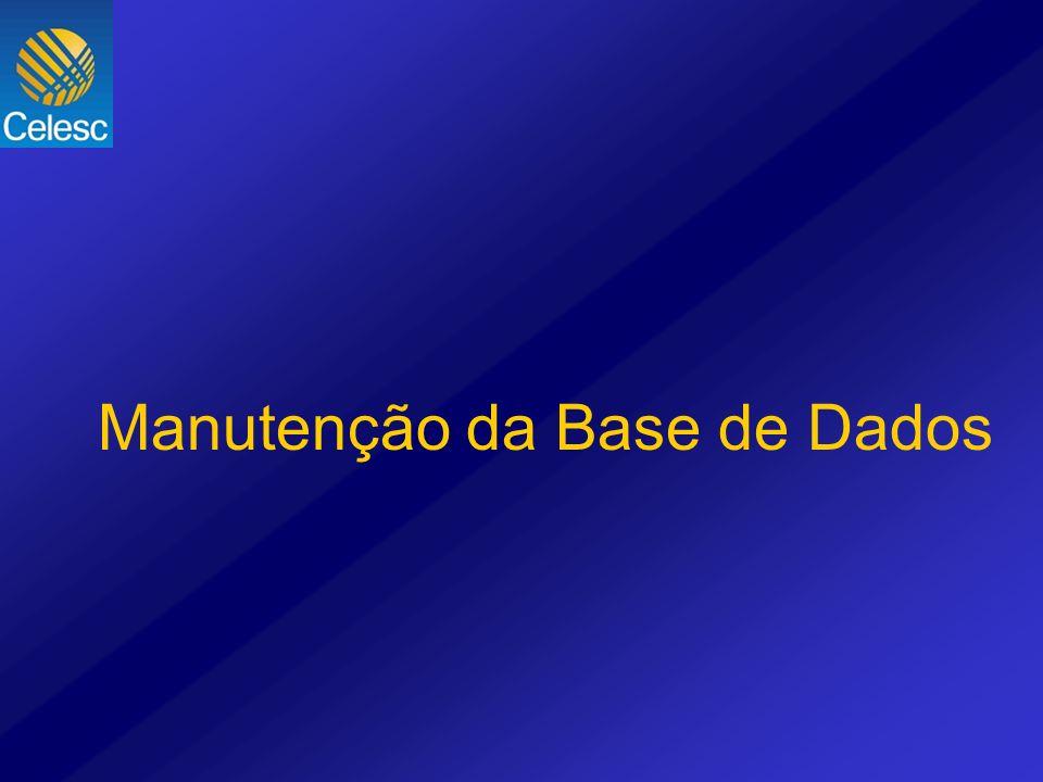 Manutenção da Base de Dados