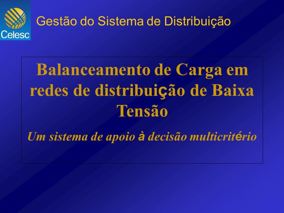 Balanceamento de Carga em redes de distribui ç ão de Baixa Tensão Um sistema de apoio à decisão multicrit é rio Gestão do Sistema de Distribuição