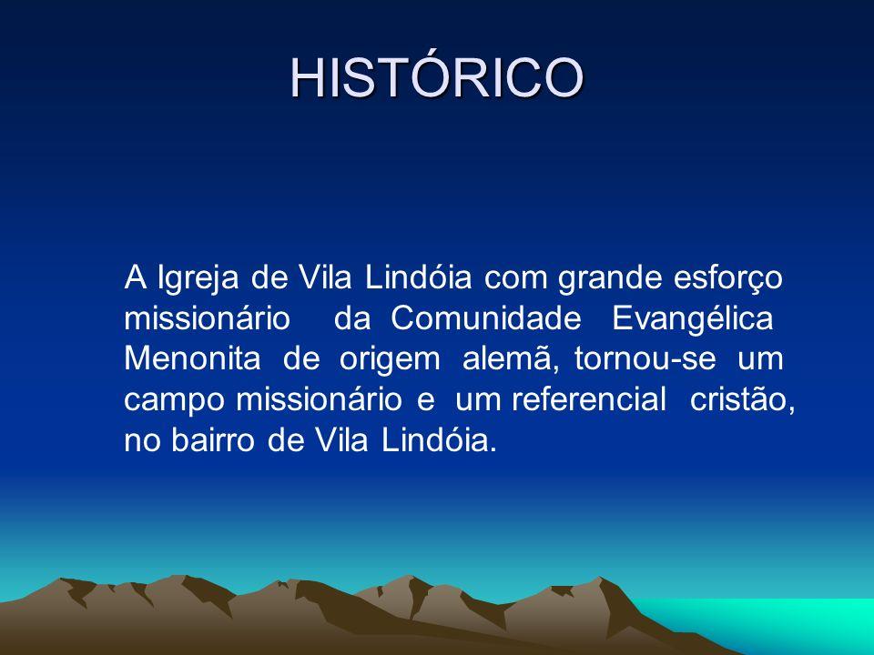 HISTÓRICO A Igreja de Vila Lindóia com grande esforço missionário da Comunidade Evangélica Menonita de origem alemã, tornou-se um campo missionário e