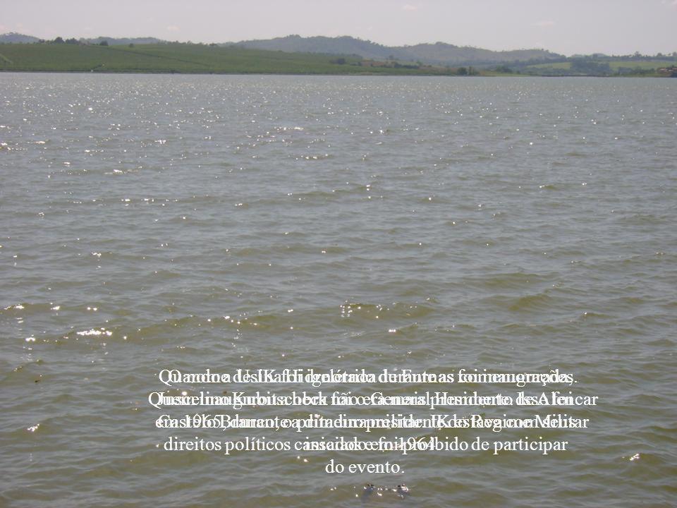 Na época, a Cemig já procurava no Rio Grande um lugar ideal para construir uma usina. Diante de um cânion longo e profundo, o engenheiro Francisco, im