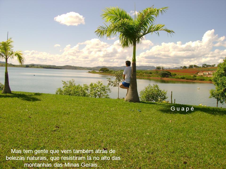 G u a p é Guapé é muito freqüentada por pescadores atrás dos peixes do Mar de Minas.