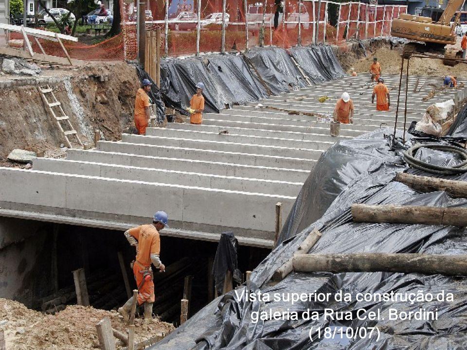 Vista superior da construção da galeria da Rua Cel. Bordini (18/10/07)