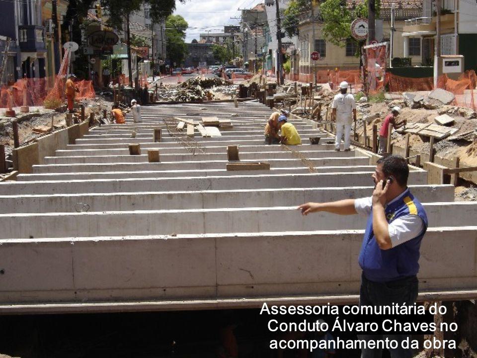 Assessoria comunitária do Conduto Álvaro Chaves no acompanhamento da obra