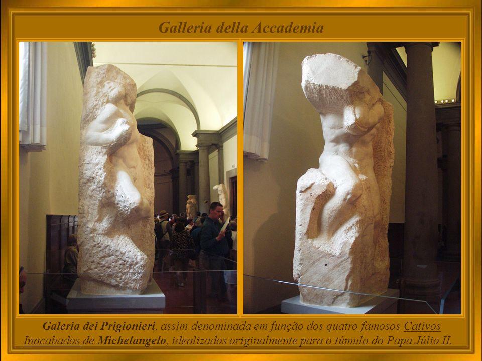 Desde sua fundação(1784), a Galeria já contava com obras importantes como o modelo em gesso da escultura O Rapto das Sabinas de Giambologna.