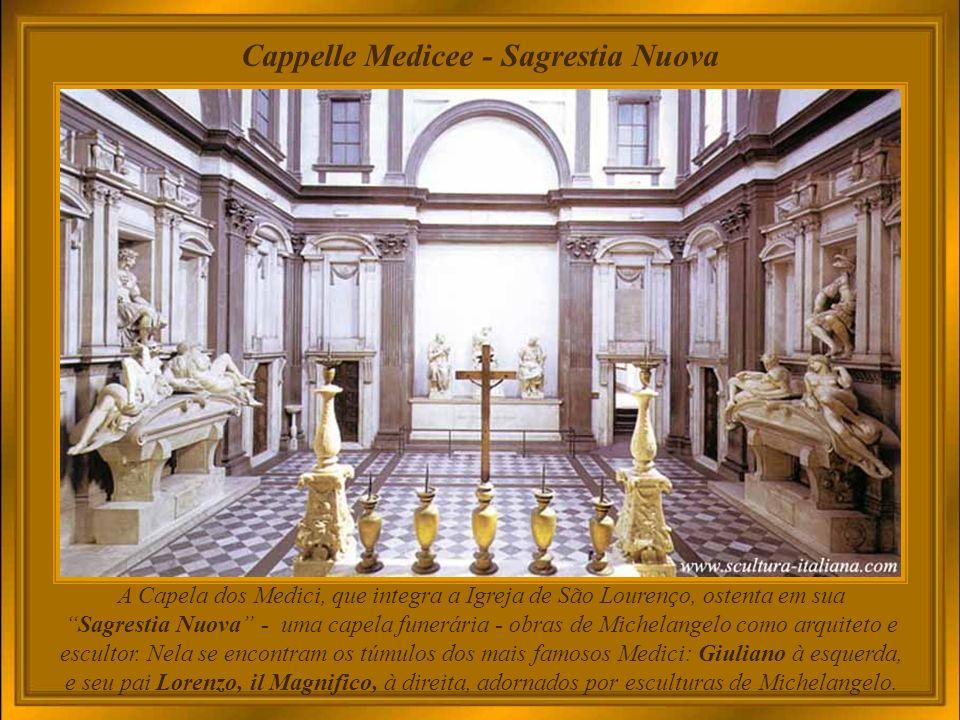 Galleria della Accademia Galeria dei Prigionieri, assim denominada em função dos quatro famosos Cativos Inacabados de Michelangelo, idealizados originalmente para o túmulo do Papa Júlio II.