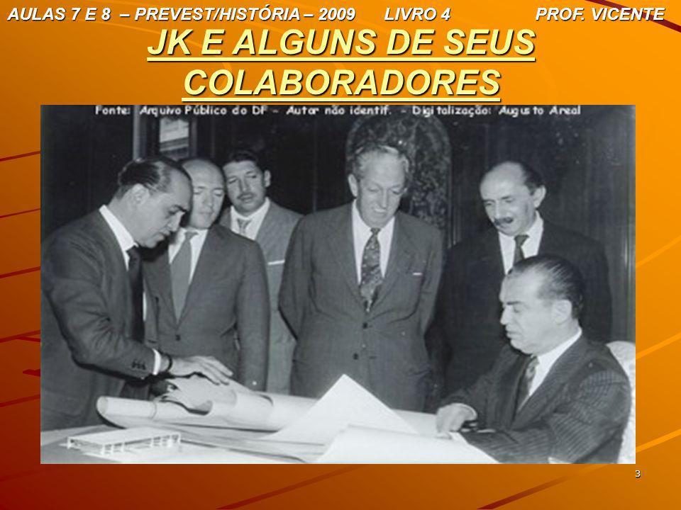 3 JK E ALGUNS DE SEUS COLABORADORES AULAS 7 E 8 – PREVEST/HISTÓRIA – 2009 LIVRO 4 PROF. VICENTE