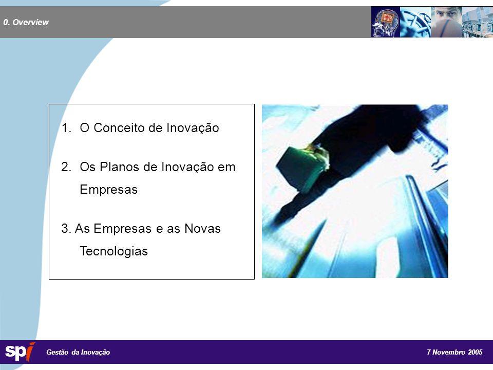 7 Novembro 2005 Gestão da Inovação 3.