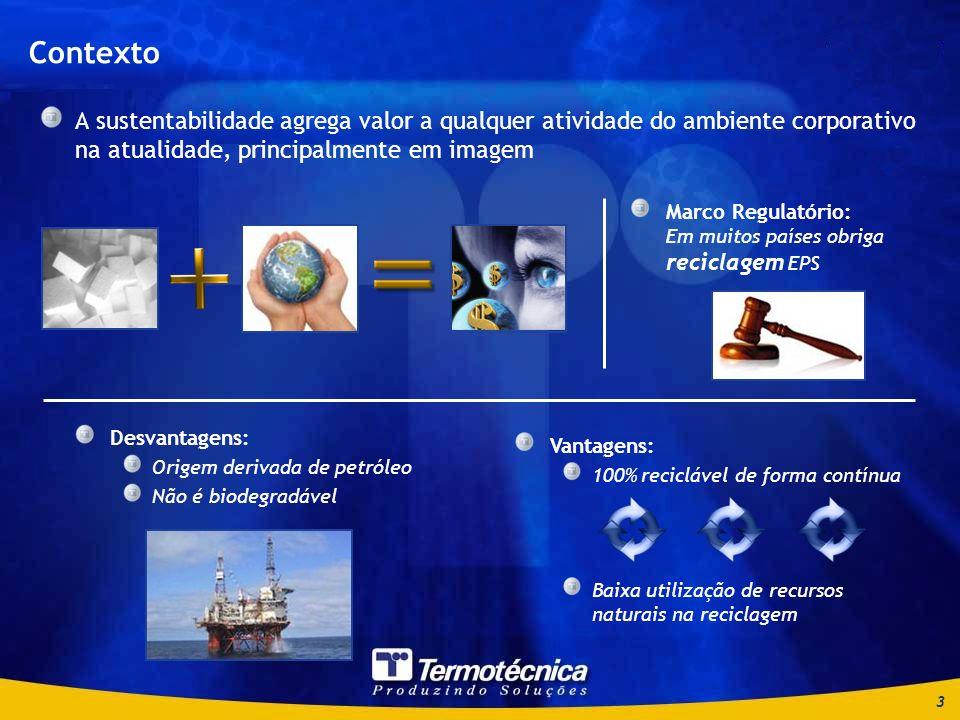 4 Relação volume e peso Investimento em equipamento para reciclagem Dimensões continentais do Brasil Necessidade de múltiplas unidades de reciclagem próximas às áreas de demanda Logístico Viabilidade econômica Dois desafios