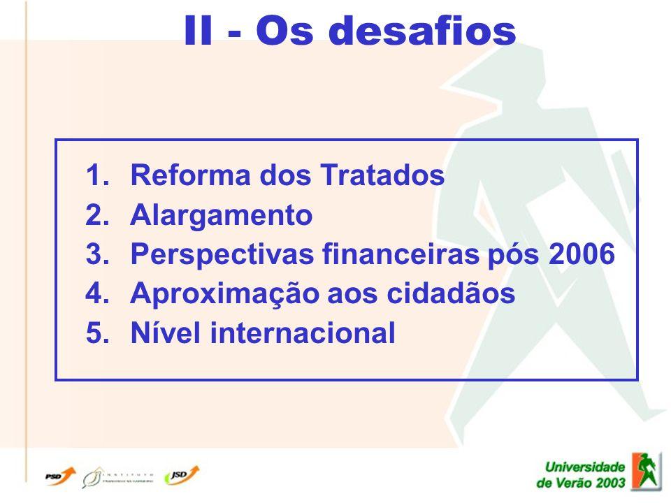 II - Os desafios 1.