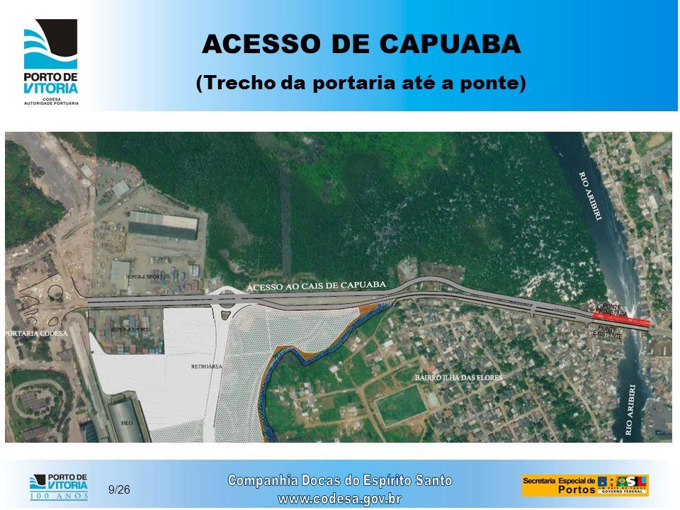 9/26 ACESSO DE CAPUABA (Trecho da portaria até a ponte)