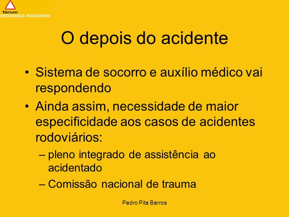 Pedro Pita Barros O depois do acidente Sistema de socorro e auxílio médico vai respondendo Ainda assim, necessidade de maior especificidade aos casos