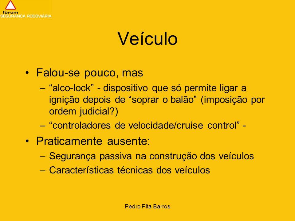 Pedro Pita Barros Veículo Falou-se pouco, mas –alco-lock - dispositivo que só permite ligar a ignição depois de soprar o balão (imposição por ordem ju