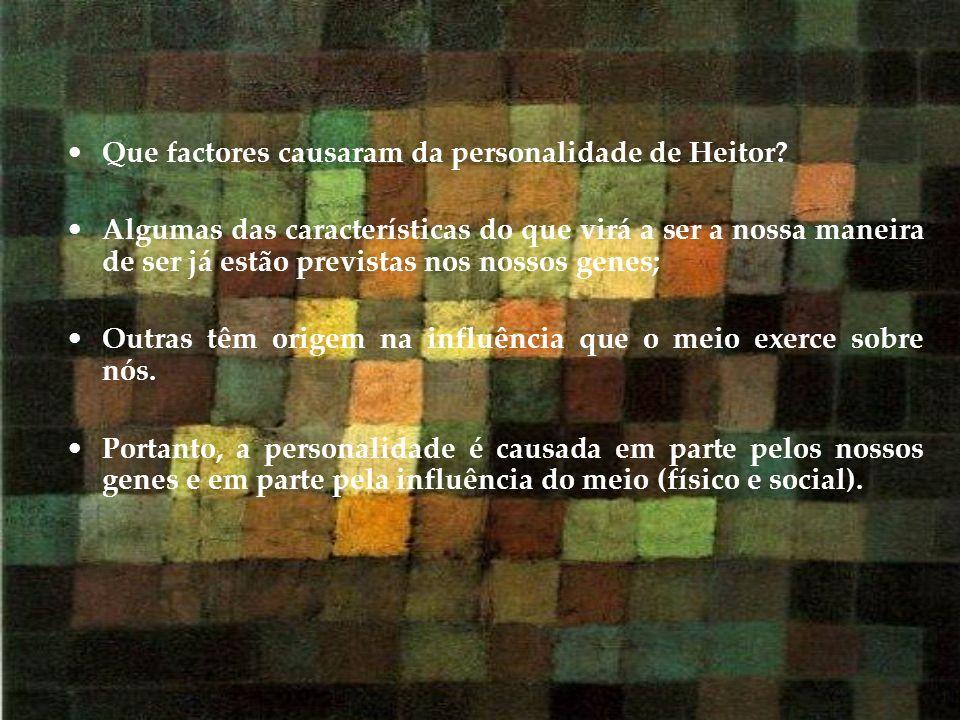 Que factores causaram da personalidade de Heitor? Algumas das características do que virá a ser a nossa maneira de ser já estão previstas nos nossos g