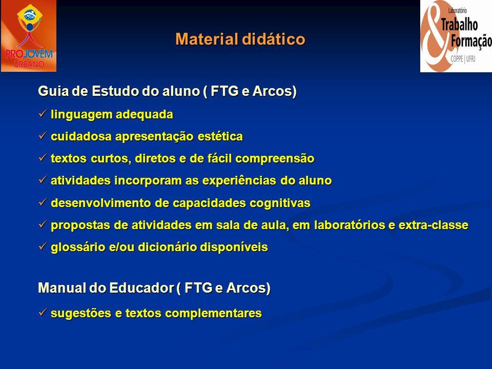 Guia de Estudo do aluno ( FTG e Arcos) linguagem adequada linguagem adequada cuidadosa apresentação estética cuidadosa apresentação estética textos cu