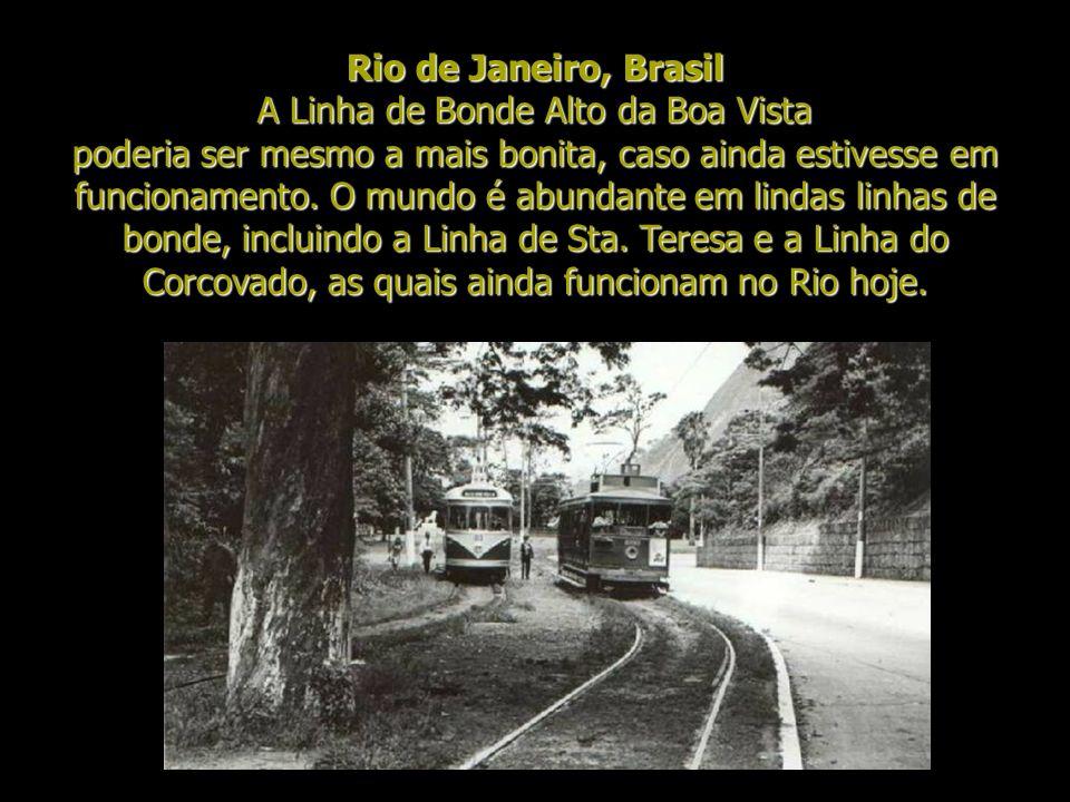 Rio de Janeiro, Brasil A Linha de Bonde Alto da Boa Vista poderia ser mesmo a mais bonita, caso ainda estivesse em funcionamento.