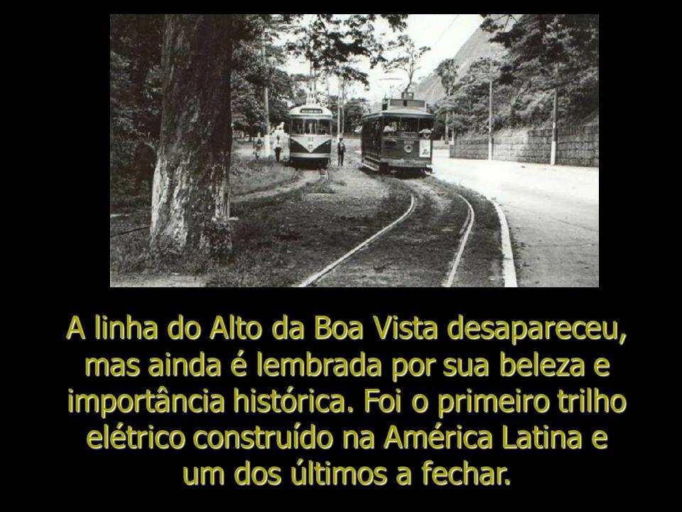 A linha do Alto da Boa Vista desapareceu, mas ainda é lembrada por sua beleza e importância histórica.