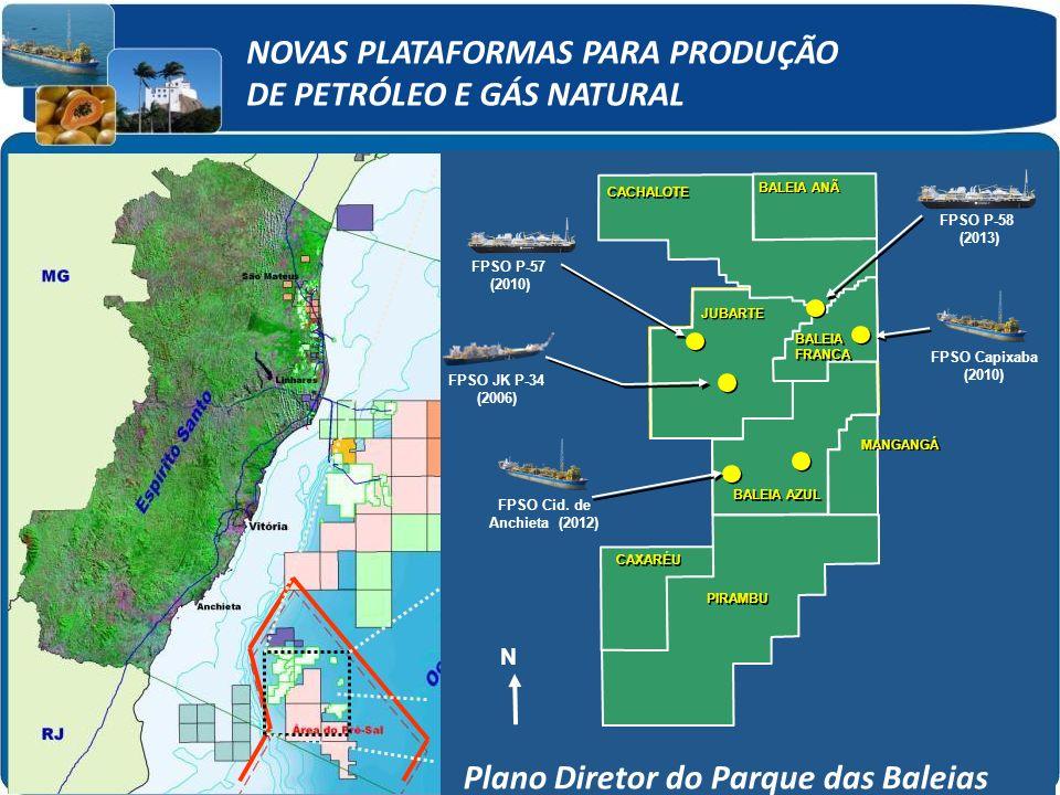 Área total: 10.500 km² Área já concedidas: 3.000 km² (28%) Área concedidas com participação da Petrobras: 1.800 km² (17%) Área sem concessão : 7.500 km² (72%) Limite do Pré-Sal 50 km N Área total: 10.500 km² Área já concedidas: 3.000 km² (28%) Área concedidas com participação da Petrobras: 1.800 km² (17%) Área sem concessão : 7.500 km² (72%) Limite dp Pré-Sal 50 km N FPSO Cid.