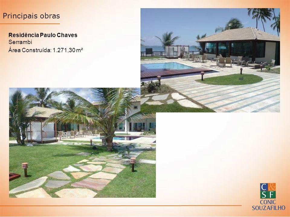 Residência Paulo Chaves Serrambi Área Construída: 1.271,30 m² Principais obras