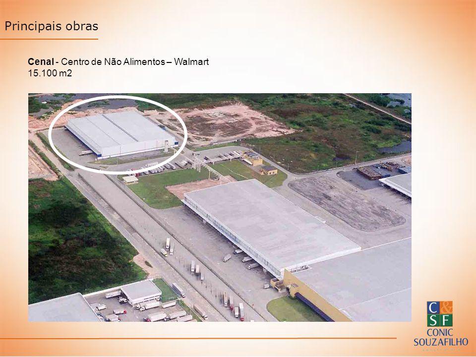 Principais obras Cenal - Centro de Não Alimentos – Walmart 15.100 m2