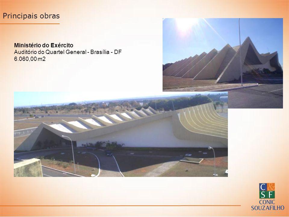 Principais obras Ministério do Exército Auditório do Quartel General - Brasília - DF 6.060,00 m2
