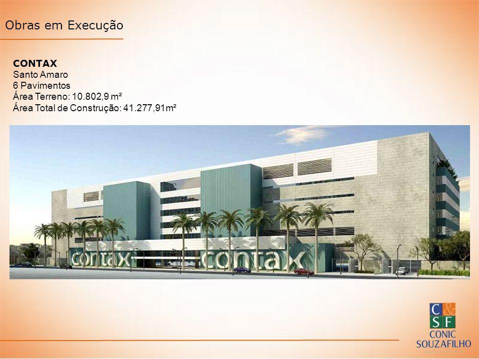 CONTAX Santo Amaro 6 Pavimentos Área Terreno: 10.802,9 m² Área Total de Construção: 41.277,91m²