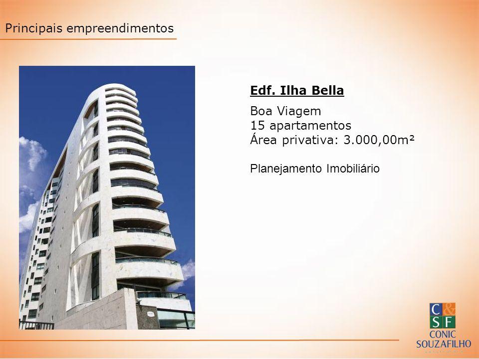 Edf. Ilha Bella Boa Viagem 15 apartamentos Área privativa: 3.000,00m² Planejamento Imobiliário Principais empreendimentos