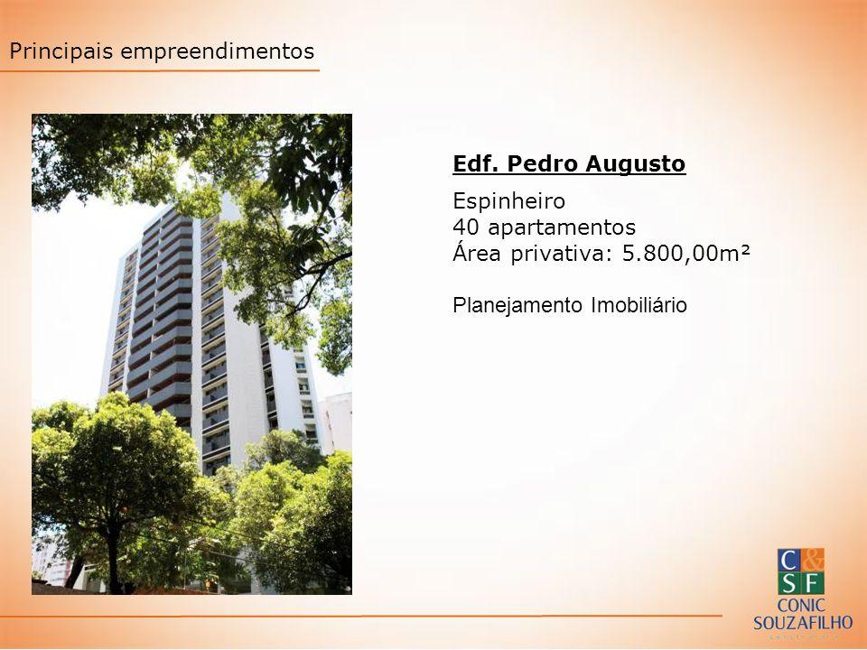 Edf. Pedro Augusto Espinheiro 40 apartamentos Área privativa: 5.800,00m² Planejamento Imobiliário Principais empreendimentos