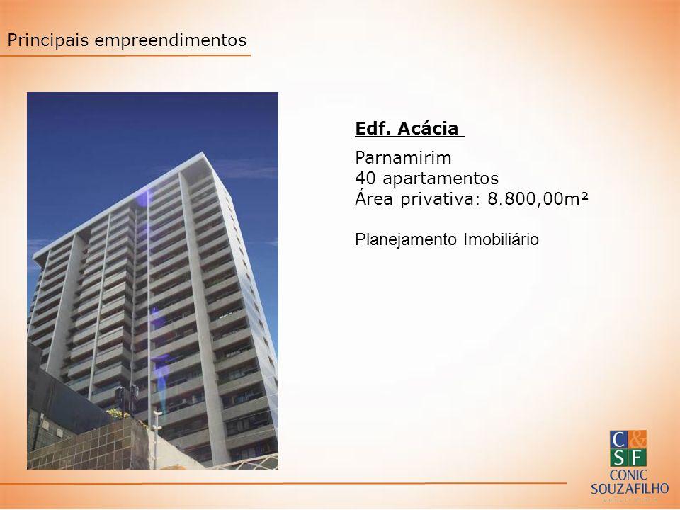 Edf. Acácia Parnamirim 40 apartamentos Área privativa: 8.800,00m² Planejamento Imobiliário Principais empreendimentos