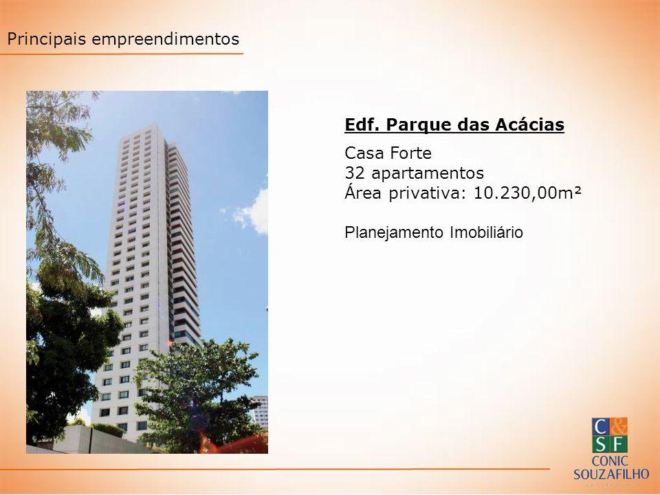 Edf. Parque das Acácias Casa Forte 32 apartamentos Área privativa: 10.230,00m² Planejamento Imobiliário Principais empreendimentos