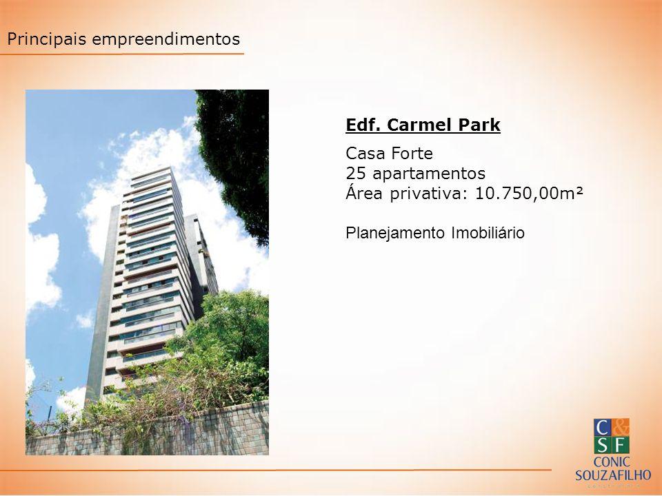 Edf. Carmel Park Casa Forte 25 apartamentos Área privativa: 10.750,00m² Planejamento Imobiliário Principais empreendimentos