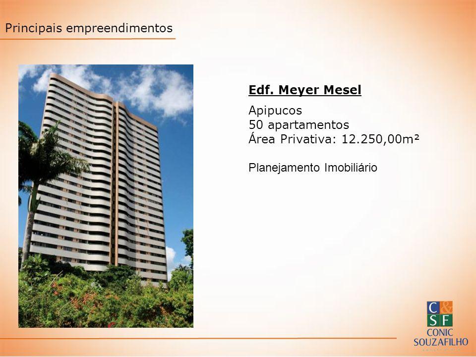 Edf. Meyer Mesel Apipucos 50 apartamentos Área Privativa: 12.250,00m² Planejamento Imobiliário Principais empreendimentos
