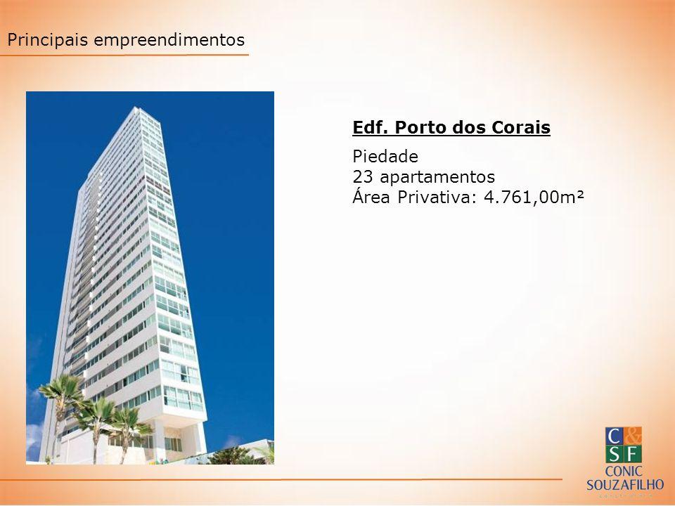Edf. Porto dos Corais Piedade 23 apartamentos Área Privativa: 4.761,00m² Principais empreendimentos