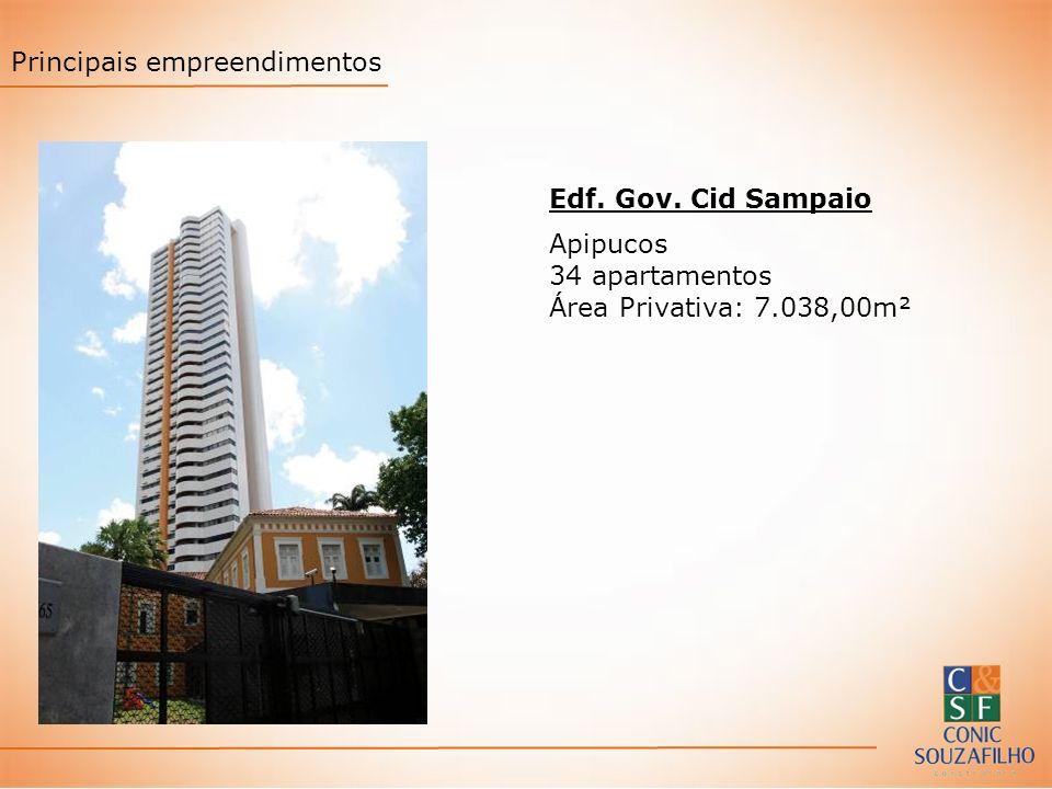Edf. Gov. Cid Sampaio Apipucos 34 apartamentos Área Privativa: 7.038,00m² Principais empreendimentos