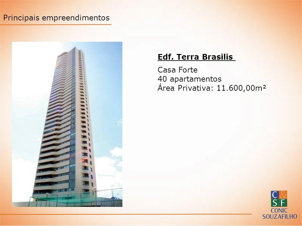 Edf. Terra Brasilis Casa Forte 40 apartamentos Área Privativa: 11.600,00m² Principais empreendimentos