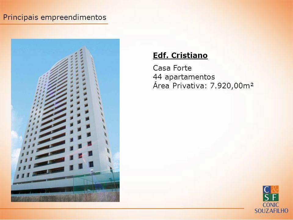 Edf. Cristiano Casa Forte 44 apartamentos Área Privativa: 7.920,00m² Principais empreendimentos