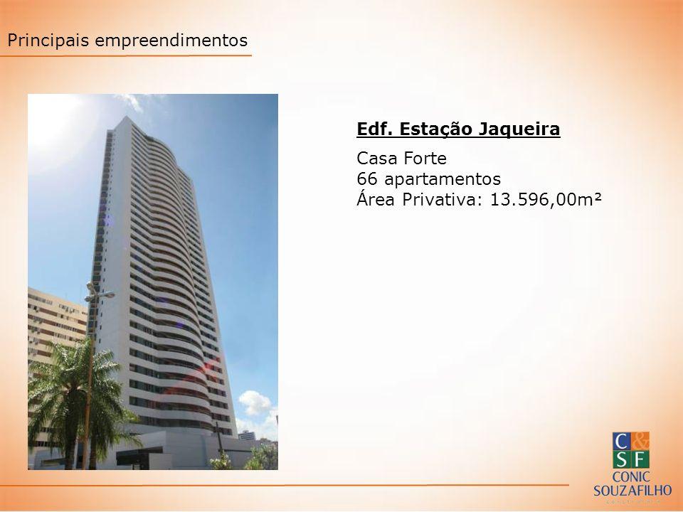 Edf. Estação Jaqueira Casa Forte 66 apartamentos Área Privativa: 13.596,00m² Principais empreendimentos