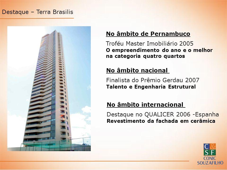 No âmbito de Pernambuco Troféu Master Imobiliário 2005 O empreendimento do ano e o melhor na categoria quatro quartos No âmbito nacional Finalista do
