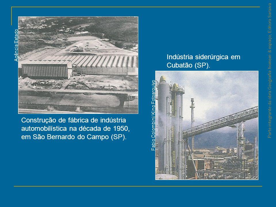 Parte integrante da obra Geografia homem & espaço, Editora Saraiva Construção de fábrica de indústria automobilística na década de 1950, em São Bernar