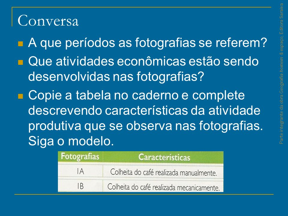 Parte integrante da obra Geografia homem & espaço, Editora Saraiva Fonte: Empresa de Pesquisa Energética – EPE, maio 2008.