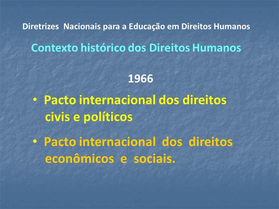 1966 Pacto internacional dos direitos civis e políticos Pacto internacional dos direitos econômicos e sociais.