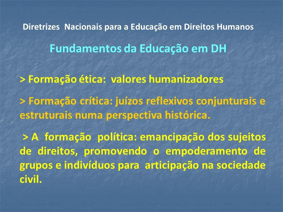 > Formação ética: valores humanizadores > Formação crítica: juízos reflexivos conjunturais e estruturais numa perspectiva histórica.