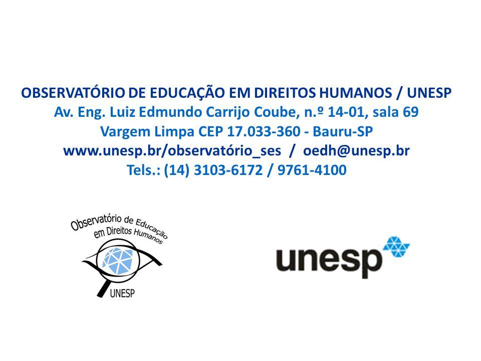 OBSERVATÓRIO DE EDUCAÇÃO EM DIREITOS HUMANOS / UNESP Av.