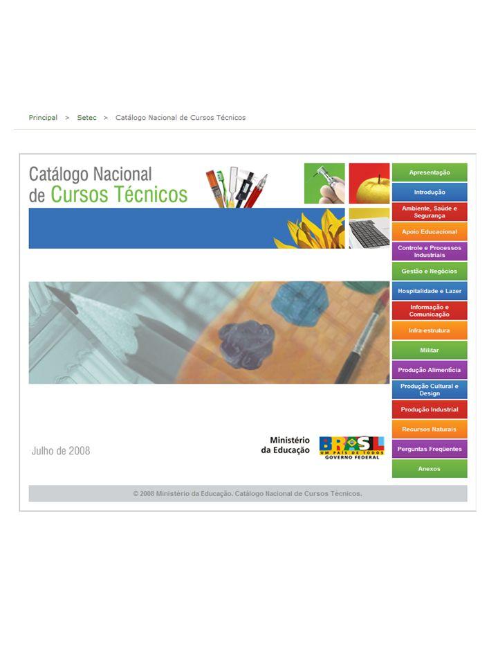 Como parte da política de desenvolvimento e valorização da educação profissional e tecnológica de nível médio apresentamos, para participação pública, o Catálogo Nacional de Cursos Técnicos.