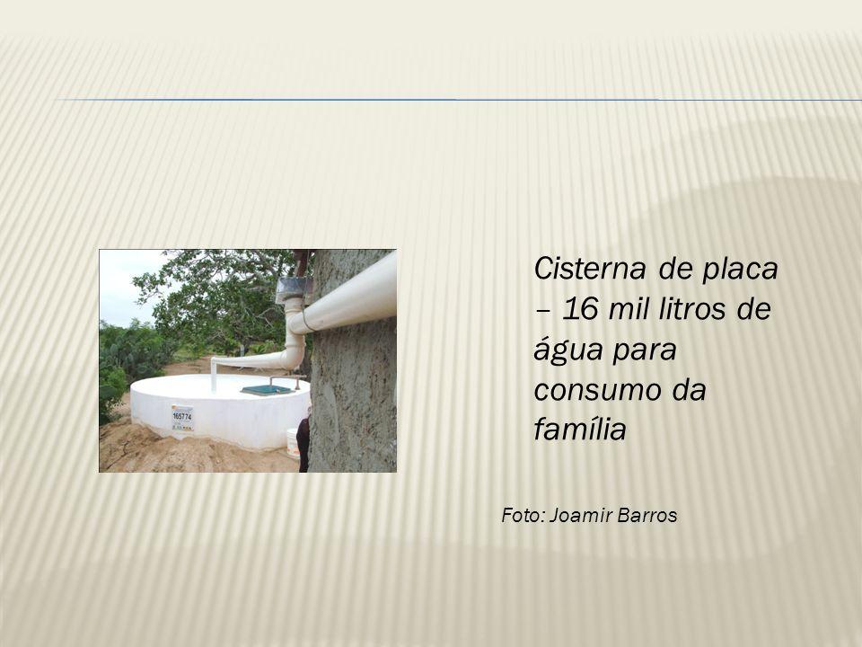 Cisterna calçadão – 50 mil litros de água para produção (P1+2) Foto: Michelle Lopes