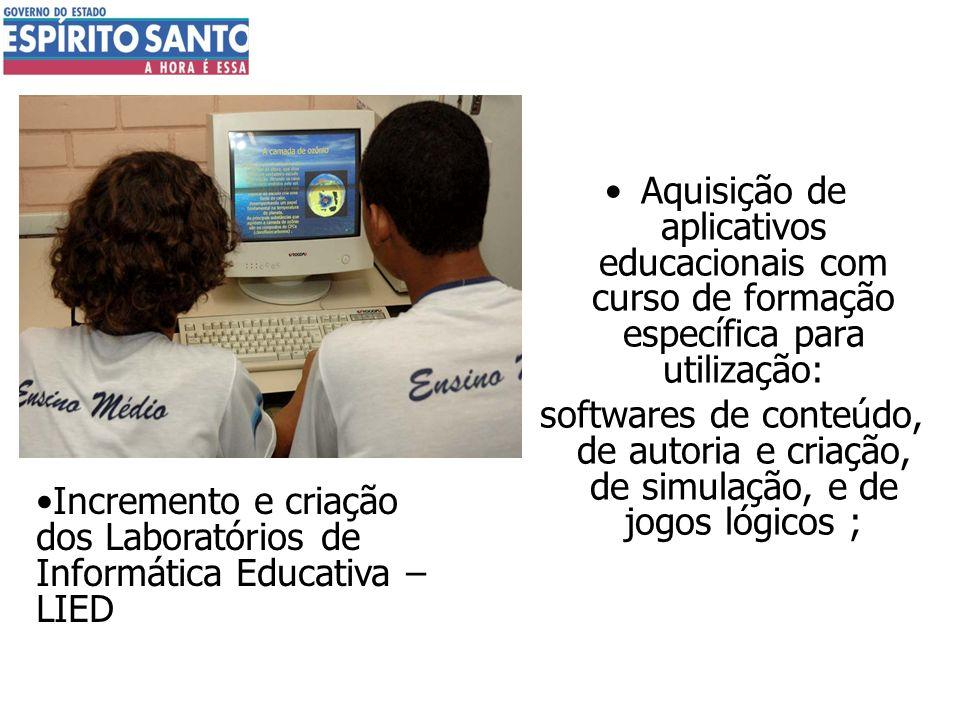 Aquisição de aplicativos educacionais com curso de formação específica para utilização: softwares de conteúdo, de autoria e criação, de simulação, e d